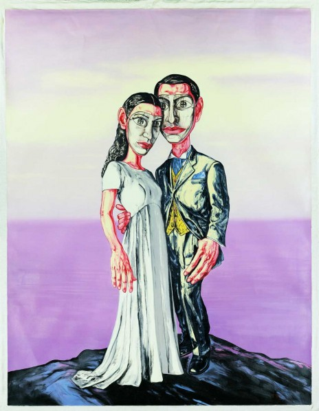 Series of A No.3 Marriage by Zeng Fanzhi, oil on canvas, 2001