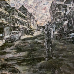 Storm by Liao Wei from Mural Painting Department 290x290 - Selected Works at the Graduation Exhibition of the Mural Painting Department, CAFA 2011