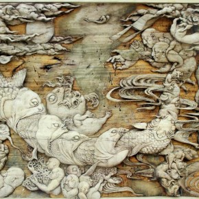 The Absurd Story by Zhao Xiaoke from Mural Painting Department 290x290 - Selected Works at the Graduation Exhibition of the Mural Painting Department, CAFA 2011