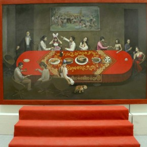 The Banquet by Guan Huilin from Mural Painting Department 290x290 - Selected Works at the Graduation Exhibition of the Mural Painting Department, CAFA 2011