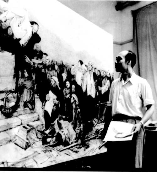 Wang Shikuo During His Creation of Bloody Clothes