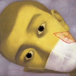 Zhang Xiaogang, Amnesia and Memory No.12, 2002; Oil on canvas, 50 x 60 cm