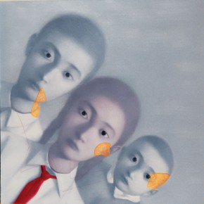 Zhang Xiaogang, Amnesia and Memory No.6, 2000; Oil on canvas, 150 x 150 cm