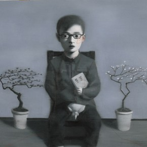 Zhang Xiaogang, Boy and Tree, 2006; Oil on canvas, 120 x 150cm