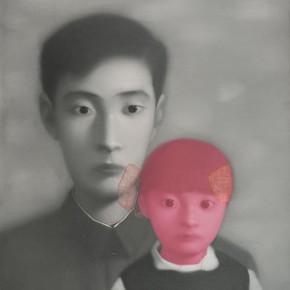 Zhang Xiaogang, Father and Daughter No.1, 1999; Oil on canvas, 100 x 80 cm