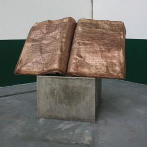 Zhang Xiaogang, Notebook, 2009; Bronze, 25x200x135cm