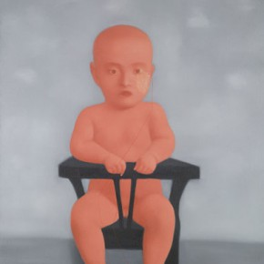 Zhang Xiaogang, Red Baby, 1998; Oil on canvas, 130 x 100cm
