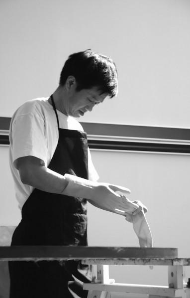Chen Wenji's at work.