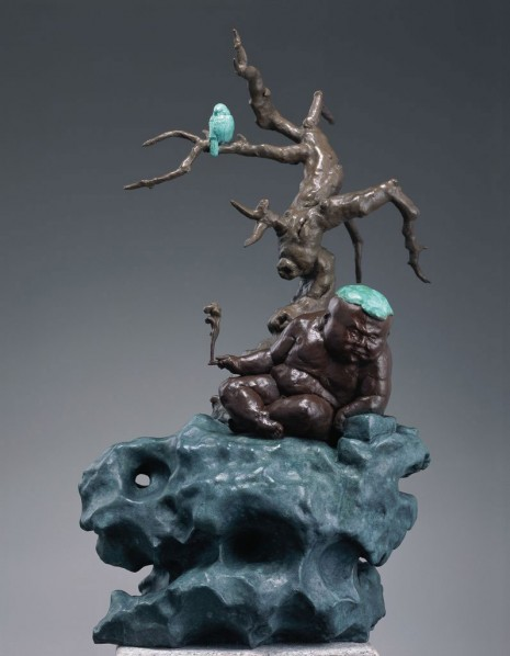 Smoke and Mist by Qu Guangci; 82×47×32cm; casting copper, 2010