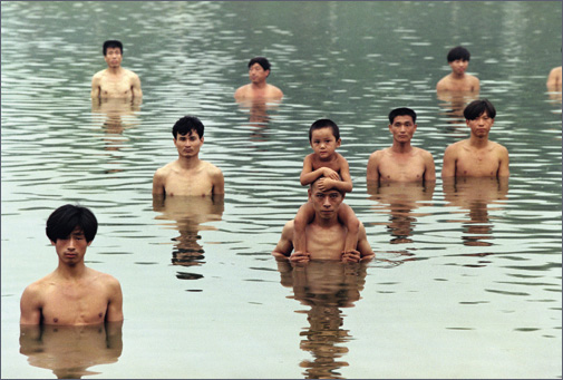 To Raise the Water Level in a Fishpond, 1997, Performance, Beijing, China