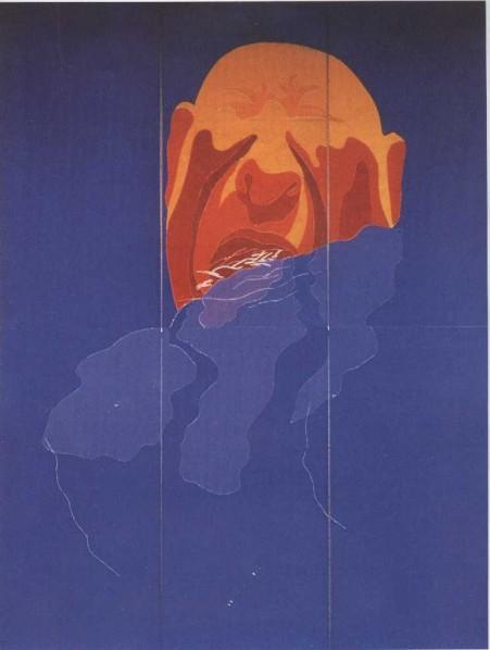 1996.1B by Fang Lijun, 1996;Print, 488X366cm