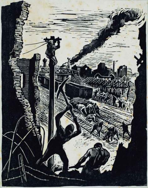 Restore by Gu Yuan, 1948; Print,18.6×14.6cm