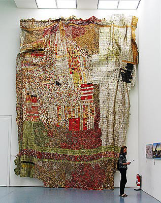 Sasa, 2004; Installation. Aluminum, copper wire; 640X840cm