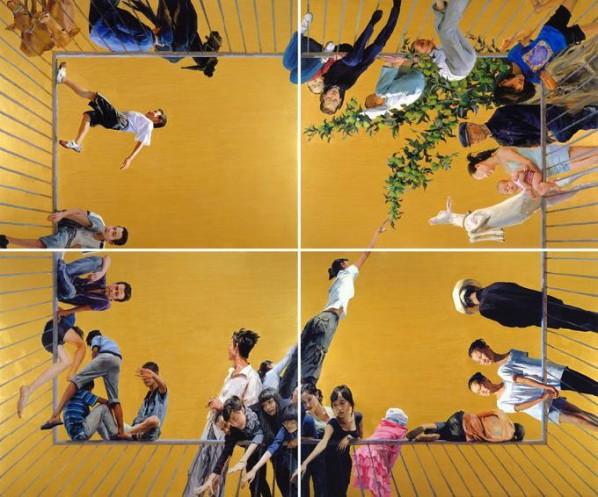 Atrium by Yu Hong, 2009; Acrylic on canvas, 500x600cm
