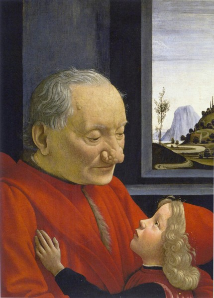 Domenico Ghirlandaio - Portrait of an old man with a child (1490)