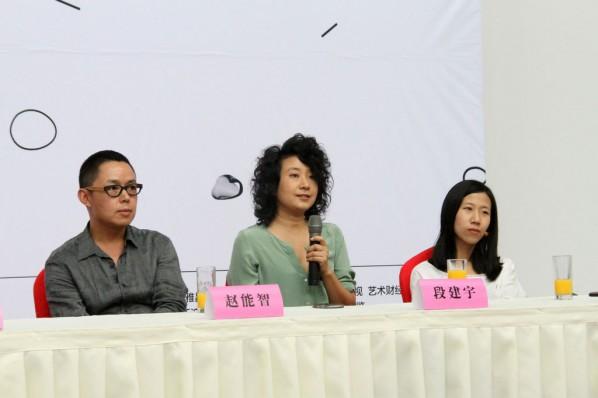 Duan Jianyu answered the question on her creations. Photo: Zhu Li