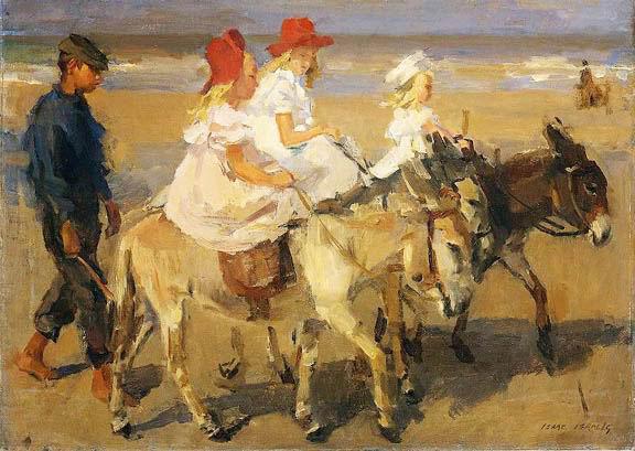 Isaac Israëls, Donkey riding on the Beach, c.1898-1900, 50 x 70 cm