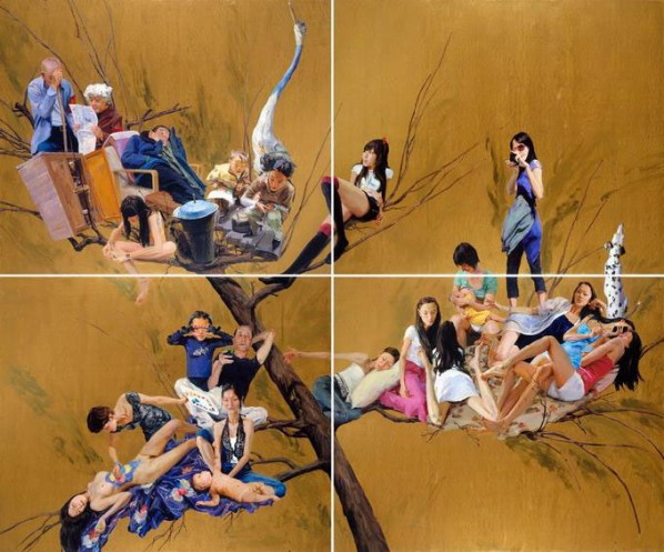 Natural Selection by Yu Hong, 2010; Acrylic on canvas, 500x600cm