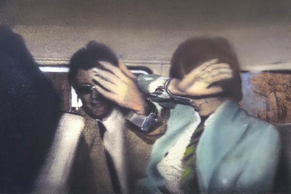Richard Hamilton, Swingeing London 67 (f) 1968-9. Acrylic, collage and aluminium on canvas