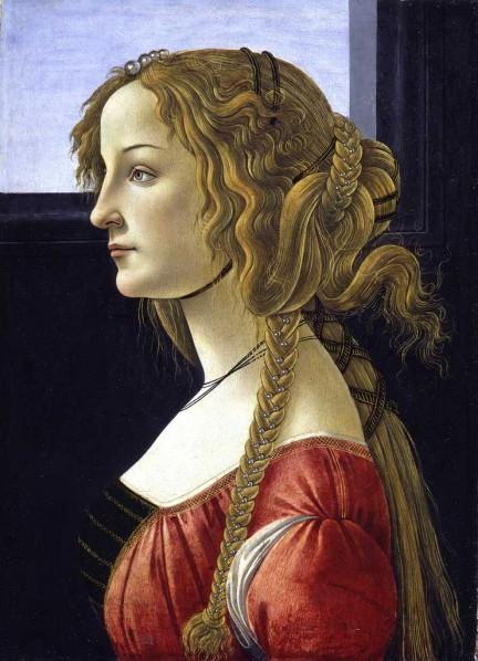 Sandro Botticelli - Portrait of a young woman, probably Simonetta Vespucci