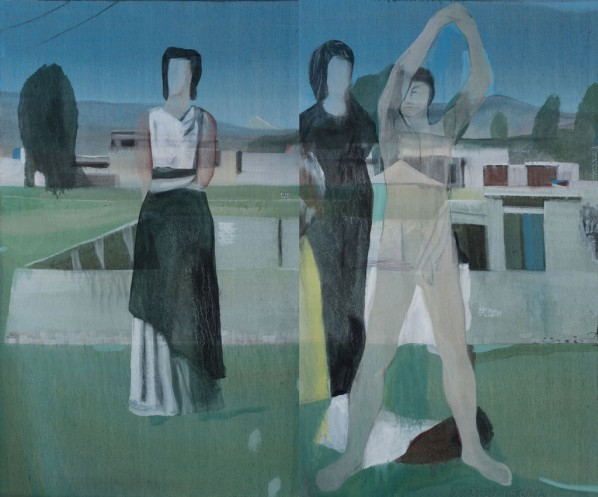 Untitled, 162×97cm×2; Oil on canvas, 2011