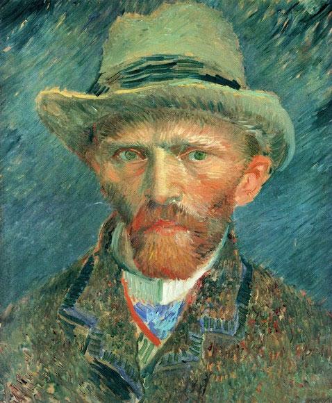 Van Gogh's Self-Portrait in 1887 (an oil on board)
