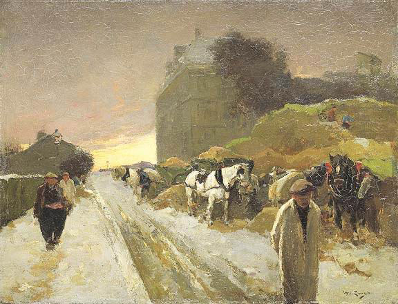 Willem de Zwart, The Winter of Montmartre, 1890;  50.5 x 60.5 cm