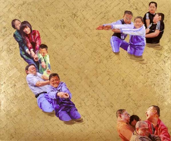 Wrestling Series by Yu Hong 01