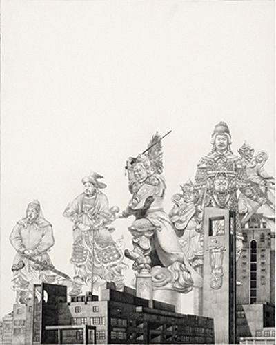 YUN by Zhao Na, 2010; painting, pencil and paper, 500X400mm