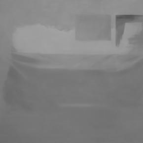 """I've Got Something""-- Zan Jbai Solo Exhibition; mortuary, 124x180"