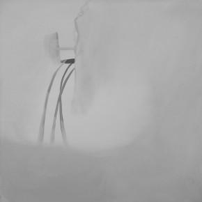 """I've Got Something""-- Zan Jbai Solo Exhibition; waterfall, 60x60"