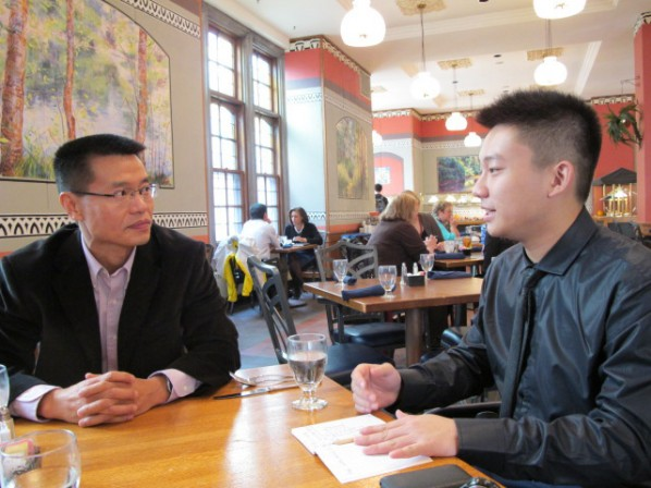 Continual Experimentation in Modern Chinese Printmaking--Interview with Professor Tang Xiaobing(from left, Tang Xiaobing-and Chen Tianchan)