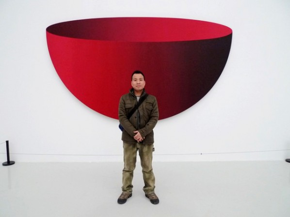 Gao Xiaowu was at his exhibition in CAFAM.