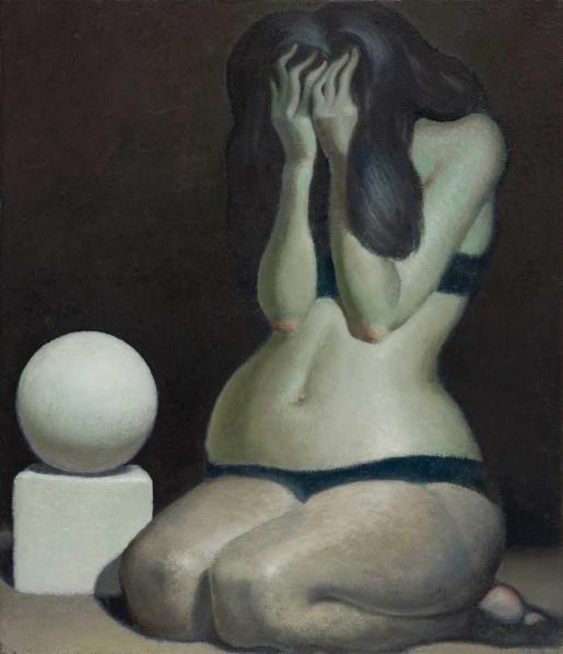 Wang Xingwei-Female Body and Geometric Solid, 2011