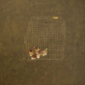 4. Inside and Outside of the Cage by Shi Zidong, 2008; oil painting on canvas, 80X80cm