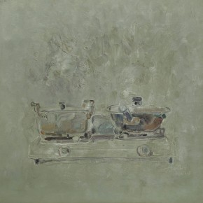 5. Two Pots on the Same Stove by Shi Zidong, 2008; oil painting, 80X80cm