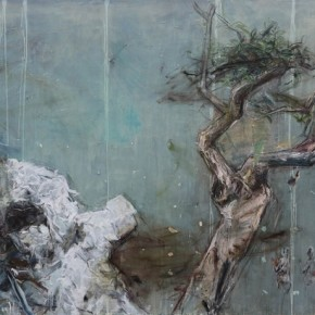 A Letter to Dongpo by Tu Hongtao, 2011; Oil on Canvas,180×280cm