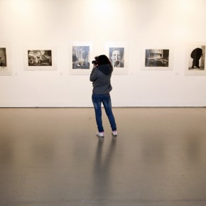 At the exhibition hall of Translating China 12; Photo: Hu Zhiheng/ CAFA ART INFO