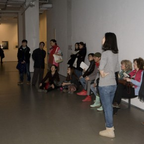 Audience were watching the profile video of Jannis Kounellis. Photo: Zhang Ying/ Today Art Msueum