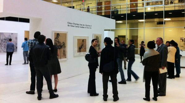 Guests visited the Chinese Drawings from the Central Academy of Fine Arts  PHOTO: CAFAM