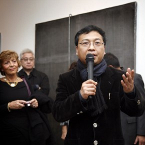 Curator of Translating China, Huang Du spoke at the opening ceremony. Photo: Hu Zhiheng/ CAFA ART INFO.