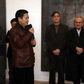 Director of Today Art Museum, Zhang Zikang spoke at the ceremony. Photo: Hu Zhiheng/ CAFA ART INFO