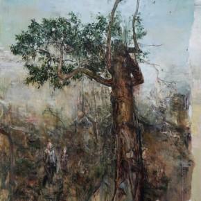 Encounter with ARAKI Under a Tree by Tu Hongtao; Oil on Canvas, 270×210cm