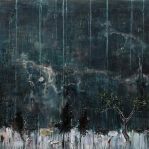 Hillock with Pine by Tu Hongtao, 2010; Oil on Canvas, 180×230cm