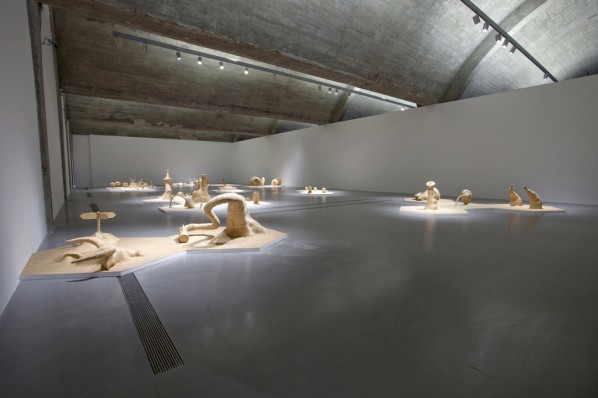 "Installation view of ""Qiu Zhijie: Cell"" at Pace Gallery, Beijing, 2011; Photograph by Wang Xiang"