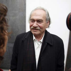 Mr.Jannis Kounellis in an Interview; Photo: Hu Zhiheng/ CAFA ART INFO
