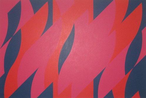 Red With Red 1, 2007, Bridget-Riley
