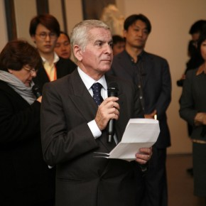 The Ambassador of Embassy of Italy in Beijing, Mr.Attilio Massimo Iannucci spoke at the opening ceremony.Photo: Hu Zhiheng/ CAFA ART INFO