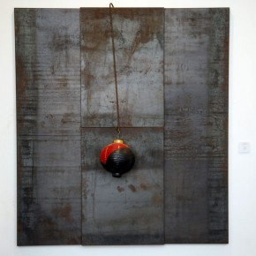 Translating China –Solo Exhibition of Mr. Jannis Kounellis 08; Photo: Hu Zhiheng/ CAFA ART INFO