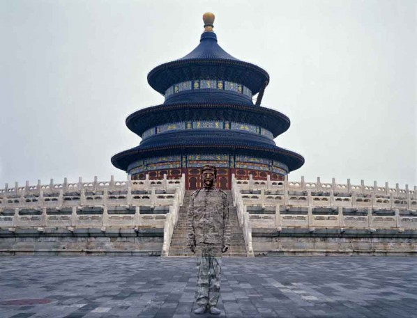 Urban Camouflage · The Temple of Heaven by Liu Bolin; Behavior photography, 2010